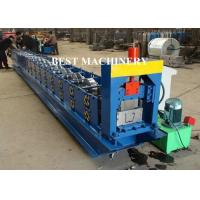 Quality 6 Inch Roofing Rain Gutter Roll Forming Machine PLC Control Cutting for sale