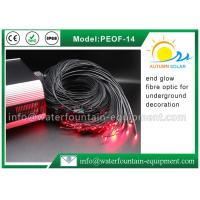 Quality Decorative Underwater Pool Lights End Glow Fiber Optic Cable With Black Cover for sale