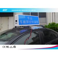 Quality RGB Video Taxi Top Led Display Advertising Light Box With 4g / Wifi Control for sale