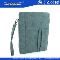 Quality Imitation Fabric design PU Fashion protective Case with wrist strap and stand for the new iPad(iPad3) for sale