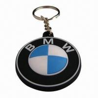 Quality Keychains, Made of Soft PVC or Silicone, with Customized Logo for Promotional Gifts for sale
