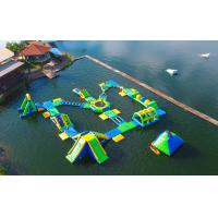 Quality 0.9mm PVC Tarpaulin Adults  Inflatable Floating Water Park Games With TUV Certification for sale