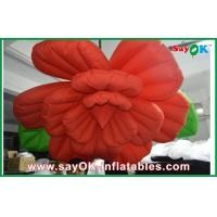 Quality Wedding Inflatable Lighting Decoration /  Red Inflatable Flower Lighting for sale