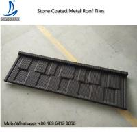 Quality Environment Friendly Flat Stone Coated Roof Tiles, Shingle Stone Coated Metal Roofing / Roof Tiles for sale
