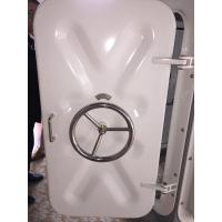 Quality White Plastic Coating Treatment Marine Access Doors / Marine Steel Watertight Hatch Door for sale
