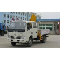 Quality dongfeng small double rows truck mounted crane for sales for sale