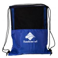 Quality Cheap Promotional Mesh Polyester Football Drawstring Bag-HAD14018 for sale