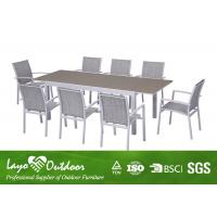 Quality Outdoor Places Aluminium Extending Dining Table Sets With Glass In Table Top for sale