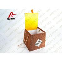 Quality Bamboo Made Food Container Customized Paper Box With Ribbon Fashion Style for sale