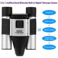Quality DT08 Binocular Built-in Digital Telescope Camera Far Shoot 1.3MP Video Recorder 10x25 101M/1000M outdoor camping hiking for sale