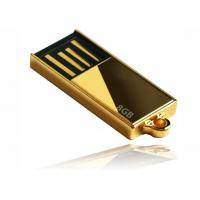 Quality Laser Engraving Golden 8GB Mini USB Flash Drive for sale