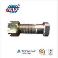 Quality Bolt with Slotted Nut Zinc Plated for sale