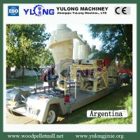 China YULONG Mobile wood pellet production line/straw pellet machine/rice husk pellet machine on sale
