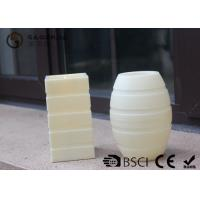 Quality Plastic Material Led Pillar Candles With Flat Top Striped Candle Set for sale