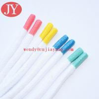 Jiayang Shoelace Charms Round Rubber Tips Custom Shoelaces Aglets for sale