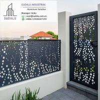 Quality SUDALU Laser Cut Powder Coated Aluminum Exterior Villa Fence and Gate Panel for sale