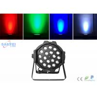 Quality Indoor 18x10w Rgbw 4 In1 Led Par Can Lights High Brightness Dmx512 for sale