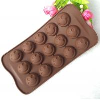 China Mini 15 Cavity Silicone Chocolate Molds Personalised Non Stick on sale