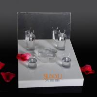Quality Unique Diamond Ring Jewelry Display Stands Acrylic Tray 220×260×175 mm for sale