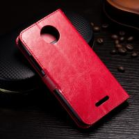 Quality Protective Wallet Stand Motorola Leather Case For Motorola C Plus Side - Open for sale