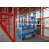 Mini Hydraulic Drive Hydraulic Platform Lift , Scissor Lift Cart 12m Movable 30% Gradeability for sale