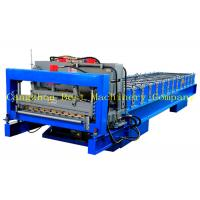 China House Roof Glazed Tile Roll Forming Machine , Metal Roof Making Machine on sale