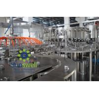 Quality Automated soda water bottling 3-in-1 carbonated filling monoblock machines and equipment for sale