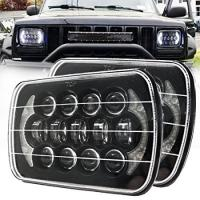 Quality 85W Rectangle Jeep Wrangler Yj Led Headlights , 5x7 Cree Led Headlights With DRL for sale