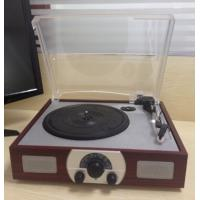 China Turntable Player with AM/FM Radio, Compatible with 18, 25 and 30cm Record on sale
