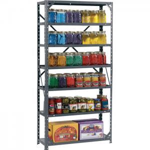 Quality 7 Shelf Storage Shelving Racks Steel Canning Shelving Unit For Supermrrket for sale