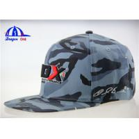 Quality Logo Printing Promotional Camo Baseball Caps / Flat Bill Flexfit Baseball Cap for sale