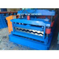 Quality Hydraulic Trapezoid Step Tile Roll Forming Machine Bamboo Style Hydraulic Cutting Type for sale