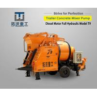 Save Labor Costs Concrete Pumping Machine Double Cylinder Hydraulic Pumping System
