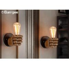 Fist Shape Bedroom Loft Indoor LED Wall Lights Sconce LED Edison Style Home Lighting for sale