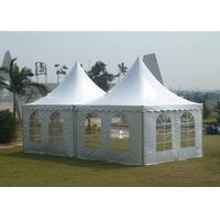 China White Color Garden Party Tent , Outside Wedding Tents Fast Install / Dismantle for sale