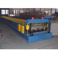 Quality Floor Deck Roll Forming Machine Chain Or Gear Box Driven System Hydraulic Cutting Device for sale