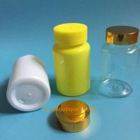 Quality 225ml Pharmaceutical Blue PET Plastic Health Care Medical Pill Bottle flip cap for sale