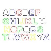 Quality Rainbow Letter / Alphabet Shape Rubber Silicone Elastic Silly Band For Hair Bands for sale