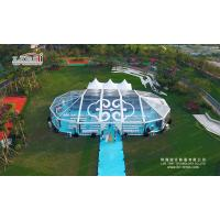 luxury transparent mixed tent 500-1000 people movable big tents for weddings for sale