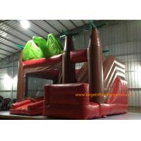 Quality Customized Size Inflatable Jumping Castle With Bouncy House / Slide Dinosaur Theme for sale