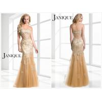 Quality Golden Lace Prom dress gown evening dress#w329 for sale