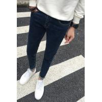 Quality Silicone Waistband Cotton Relaxed Fit Tapered Leg Jeans For Men , Push Up Pants Jeans for sale