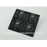 Buy Black Solder Multilayer Printed Circuit Board Gold Plating Pannelized Fiducial at wholesale prices