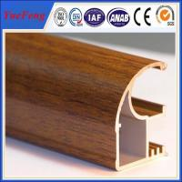 Buy cheap Wood finished aluminum extrusion profiles,aluminum window frames price for South Africa from wholesalers