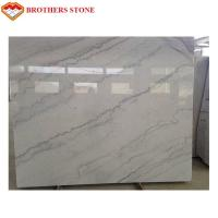 China Pure White Marble Stone Slabs , Pure White Marble Floor Tiles Wear Resistant for sale