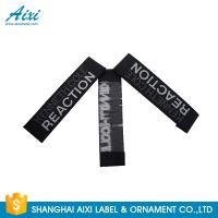 Quality Good Feeling - Touch Custom Printed Clothing Labels , Soft Woven Garment Labels for sale