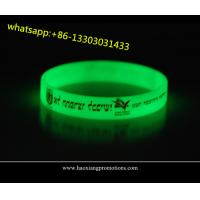Quality high quality customized silicone wristbands for events glow in dark for sale