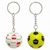 Quality Synthetic Leather Football Keychains for sale