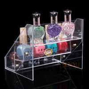 Quality SGS Acrylic 3 Tiers Nail Polish Display Organizer Handmade Custom Digital Printing for sale
