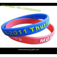 Buy cheap Wholesale Colorful Silicone Wristband for Promotional Advertising Gift from wholesalers